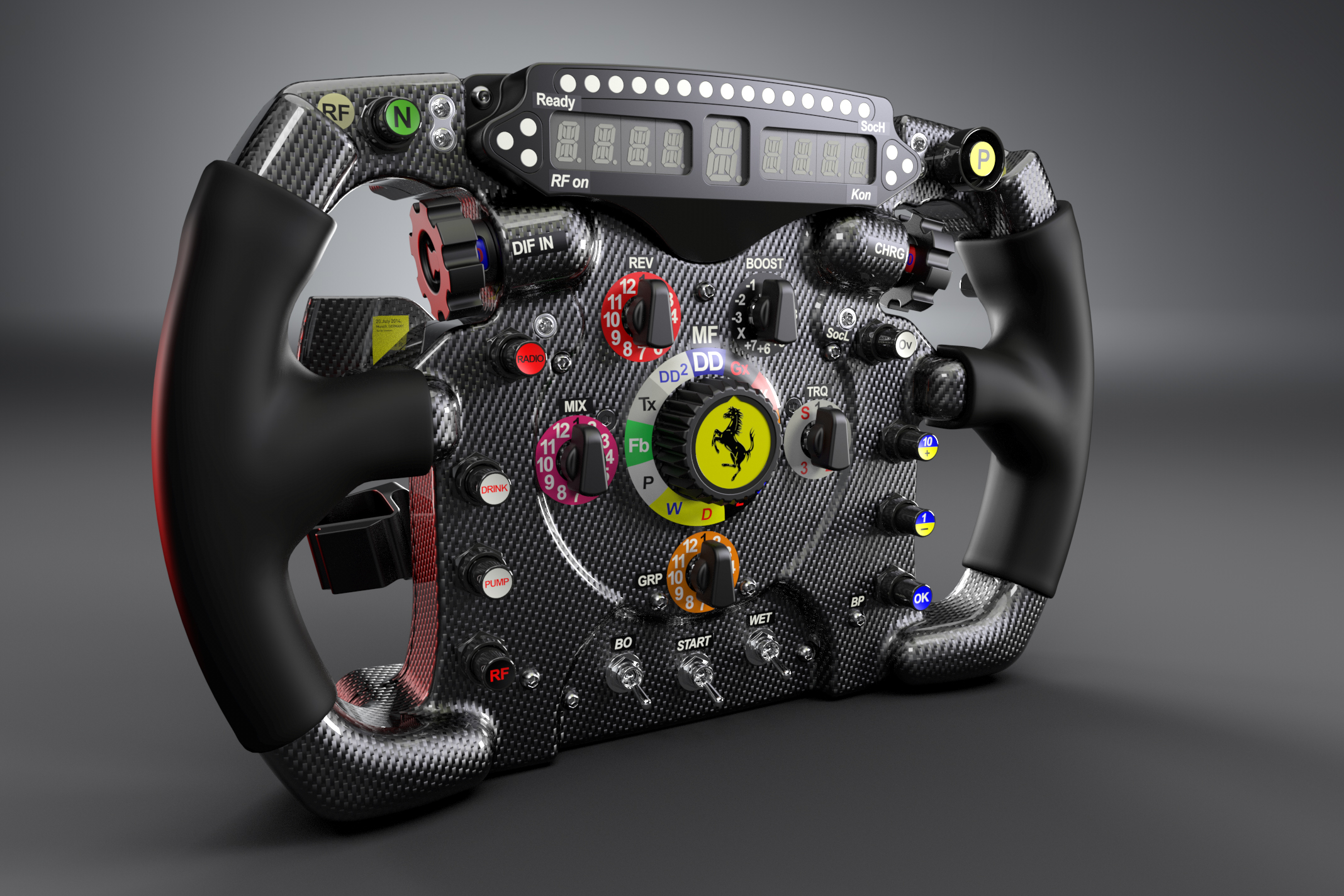 F1 steering wheel wallpaper